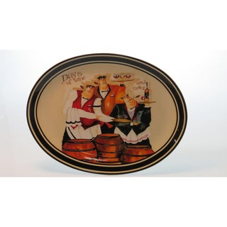Certified International 'Days of Wine' Oval Platter