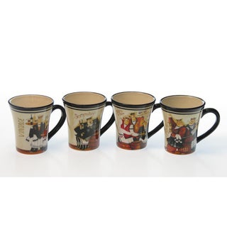 Certified International 'Days of Wine' 13-ounce Mugs (Set of 4)