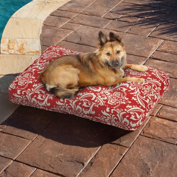 Sweet Dreams Red Damask Indoor/ Outdoor Pet Bed