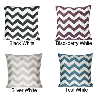 Chevron Laser Cut 20x20-inch Decorative Pillow