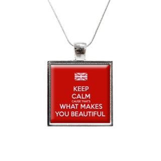 'Keep Calm One Direction' Glass Pendant and Necklace