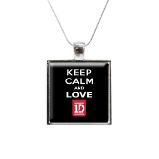 'Keep Calm and Love One Direction' Glass Pendant and Necklace