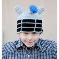 Handmade Dr Who Robot Knit Hat
