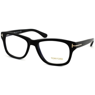 Tom Ford Unisex Shiny Black Plastic Eyeglasses