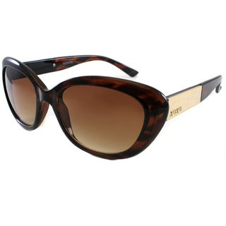 XOXO Women's Casablanca Tortoise and Gold Cateye Sunglasses