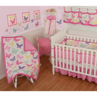 Sumersault Butterfly Block 12-piece Crib Bedding Set