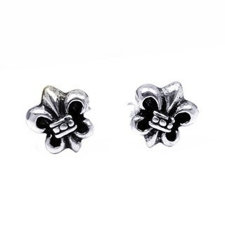 Petite Saint Fleur de Lis Saints .925 Silver Stud Earrings (Thailand)