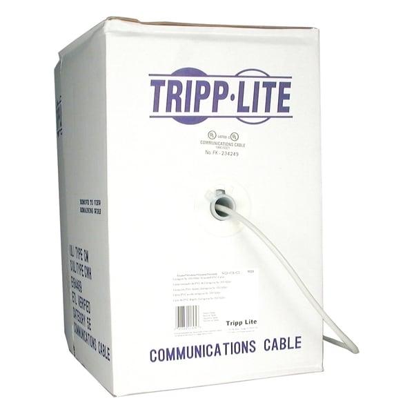 Tripp Lite Cat5e 350MHz Bulk Solid-core PVC Cable - Gray