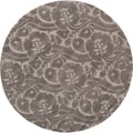 Hand-tufted Edgewood Gray New Zealand Wool Rug (8' Round)