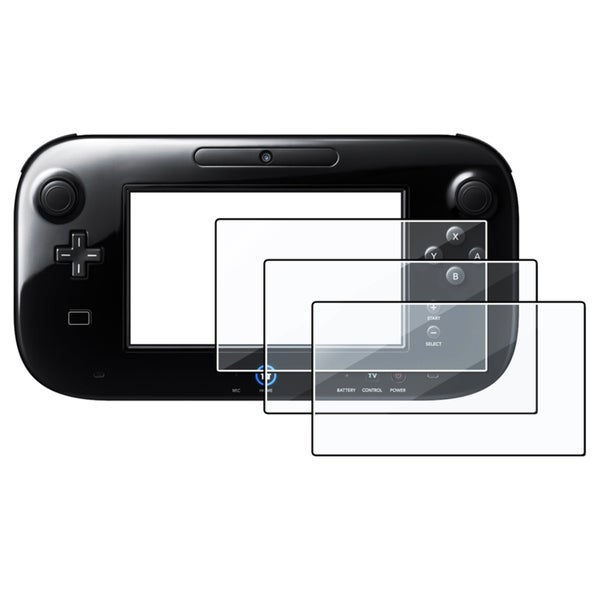 INSTEN Clear Screen Protector for Nintendo Wii U (Pack of 3)