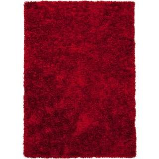 Red/ Orange Solid Shag Rug (9' x 12')