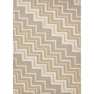 Handmade Flat Weave Geometric Beige/ Brown Reversible Wool Rug (9' x 12')