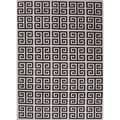 Handmade Flat Weave Geometric Black/ White Wool Rug (8' x 10')
