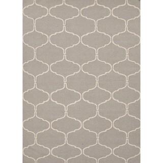 Handmade Flat Weave Gray Wool Runner (2'6 x 8')