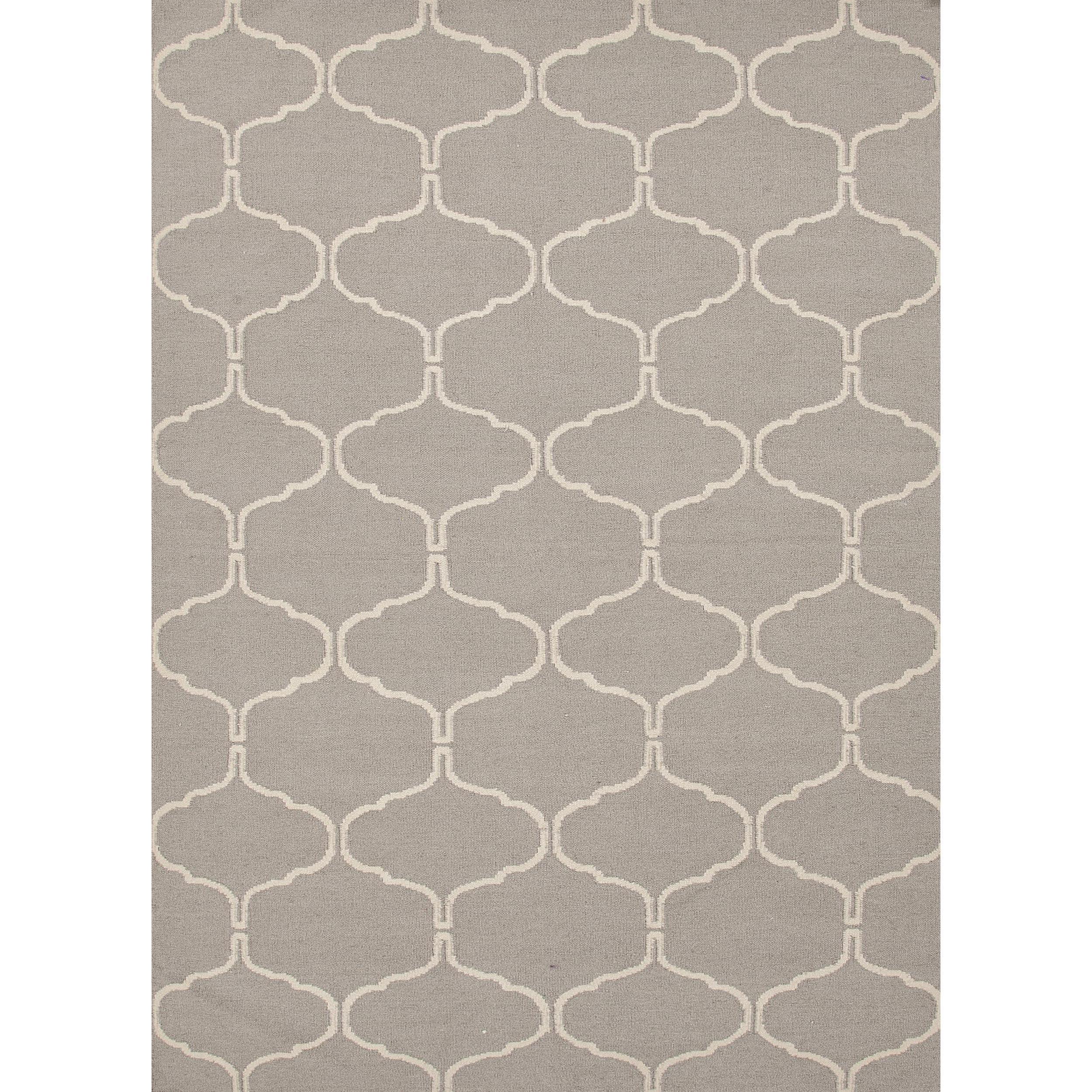 JRCPL Handmade Geometric Flat Weave Gray Wool Rug (3'6 x 5'6) at Sears.com