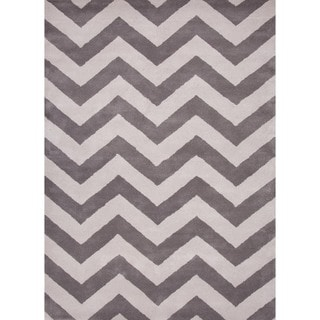 Hand-tufted'Traverse' Modern Geometric Wool Rug (5' x 8')