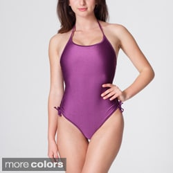 American Apparel Women's Nylon Tricot Ruched Side Detail One-Piece Swimsuit
