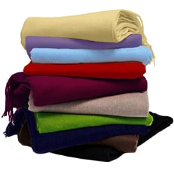 Cashmere Showroom Mongolian Cashmere Blend Throw