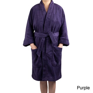 Leisureland Women's Plush Fleece Kimono Robe