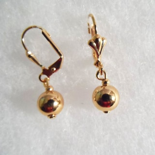18k Gold Overlay Ball Earrings