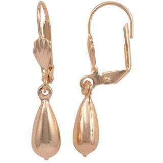 18k Gold Overlay Tear Drop Earrings