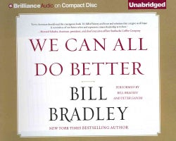 We Can All Do Better (CD-Audio)