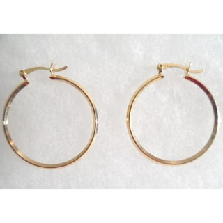 18k Gold Hoop Earrings