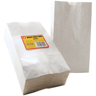 "Gusseted Flat Bottom Bags 4-1/2""X2-1/2""X8-1/2"" 100/Pkg-White"