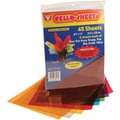 "Cello Sheets 8-1/2""X11"" 48/Pkg-6 Each Of 8 Colors"