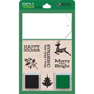 Hero Arts Stamp and Tag Boxed Set-Green