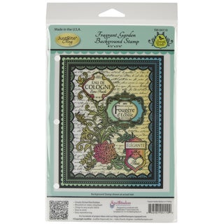 "JustRite Stampers Cling Background Stamp 4-1/2""X5-3/4""-Fragrant Garden"