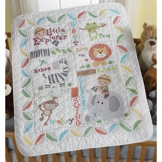 Little Explorer Crib Cover Stamped Cross Stitch Kit-34