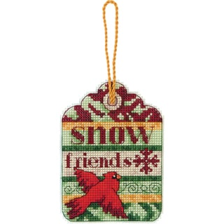 Susan Winget Snow Friends Ornament Counted Cross Stitch Kit-3-1/4