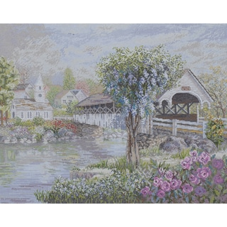 "Heirloom Collection The Covered Bridge Counted Cross Stitch -20""X16"" 28 Count"