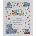 "Cute & Cuddly Bear Birth Record Counted Cross Stitch Kit-10""X13"" 14 Count"