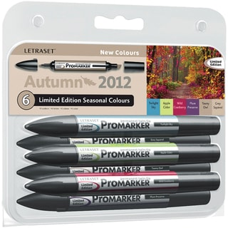 Letraset Promarker Limited Edition Set 6/Pkg-Autumn