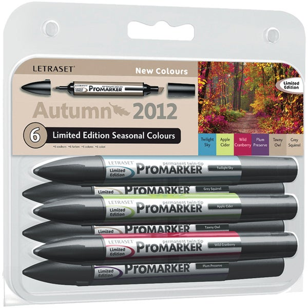 Letraset Promarker Limited Edition Set 6/Pkg-Autumn