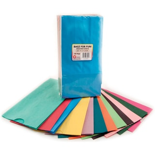 "Gusseted Flat Bottom Bags 5""X3""X9-3/4"" 100/Pkg-Assorted Colors"
