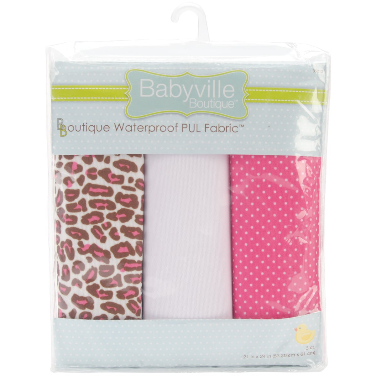 "Babyville Waterproof Diaper Fabric 21""x24"" Cuts 3/Pkg-PUL Sassy Dots & Sassy Cheetah"