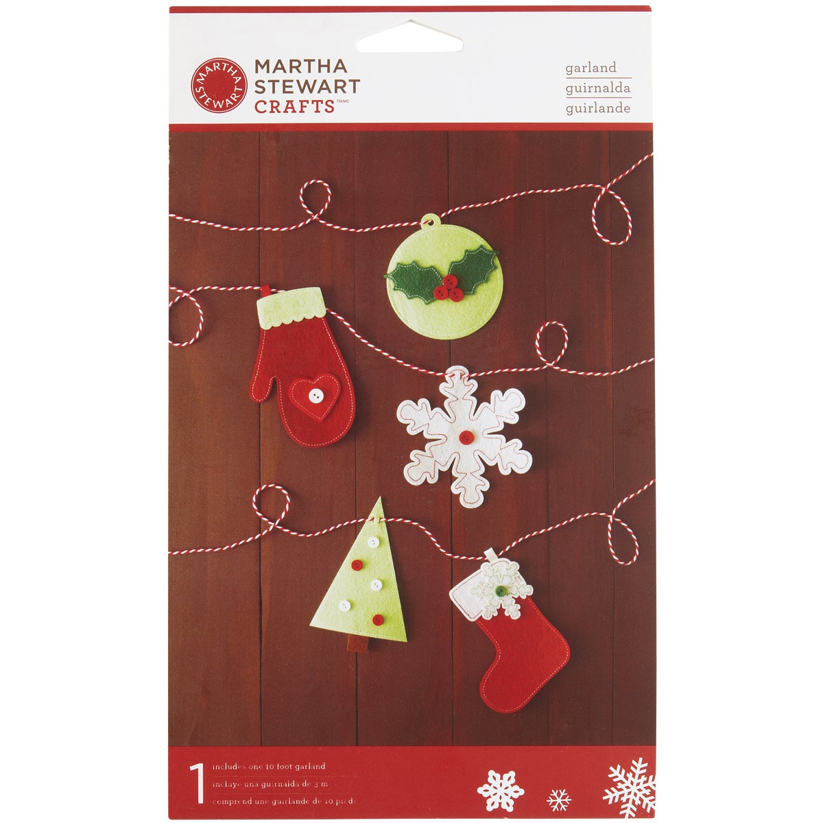 Garland 10 Feet/Pkg-Cottage Christmas Icons