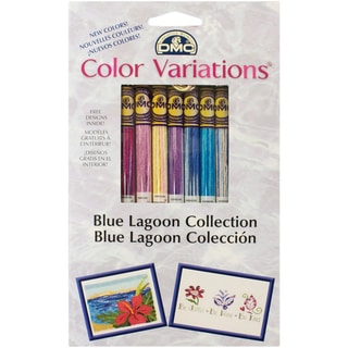 DMC Color Variations Floss Pack-Blue Lagoon 8/Pkg