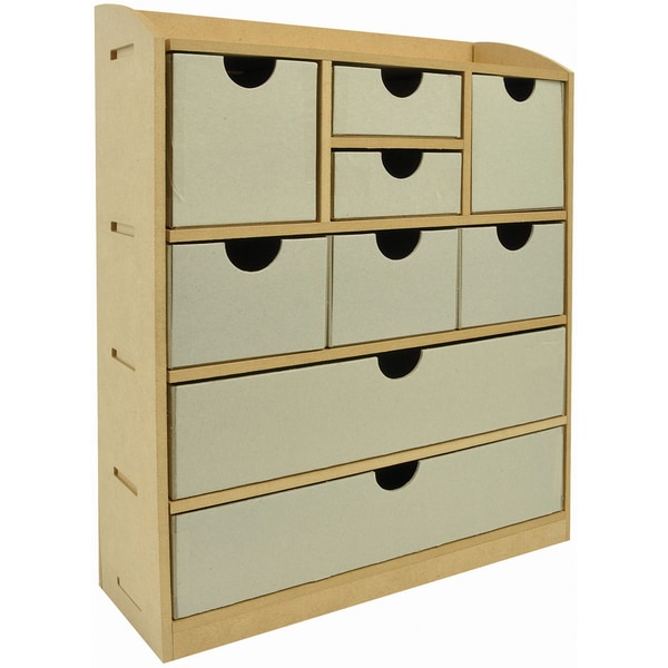 "Beyond The Page MDF 9-Drawer Chest-12.5""X15""X4"""