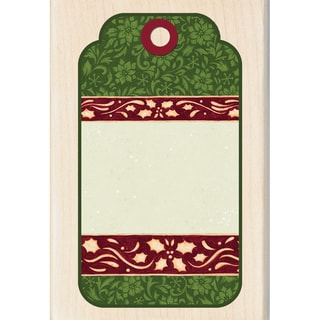 "Inkadinkado Christmas Mounted Rubber Stamp-Decorative Tag 2.75""X4"""