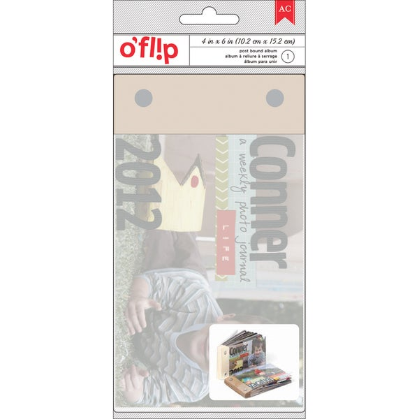 "O'fl!p Postbound Flip Book Album 4""X6""-53 Pages"