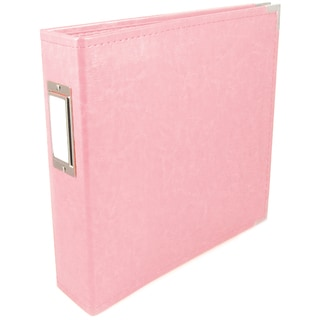 "We R Faux Leather 3-Ring Binder 6""X6""-Pretty Pink"
