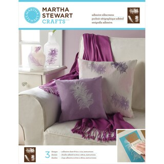 Martha Stewart Adhesive Silkscreen- Peacock Feathers 3 Designs
