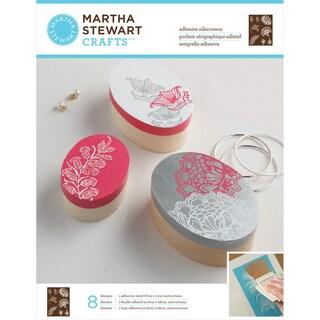 Martha Stewart Adhesive Silkscreen- Wildflowers 8 Designs