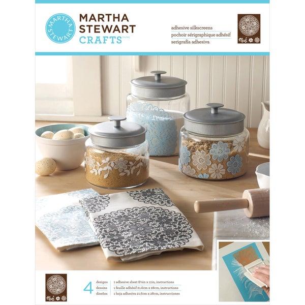 Martha Stewart Adhesive Silkscreen- Floral Doily 4 Designs