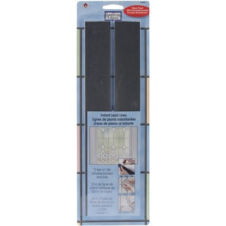 Gallery Glass Instant Lead Lines-Black 1/80 inch Thick