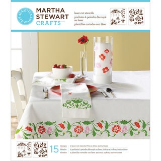 Martha Stewart Medium Stencils 2 Sheets/Pkg-Flower Vines 15 Designs